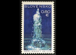 Slowakei Slovakia 2016 Nr. 797 Schönheiten des Landes Geysir von Herliansky