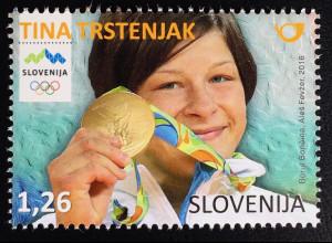 Slowenien Slovenia 2016 Nr. 1219 Tina Trstenjak Olympiamedaillengewinnerin