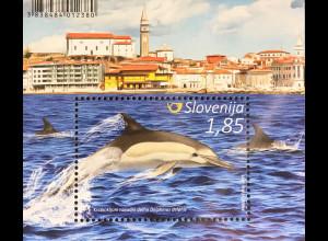 Slowenien Slovenia 2016 Block 91 Faune Wale und Delfine Meeressäugetiere
