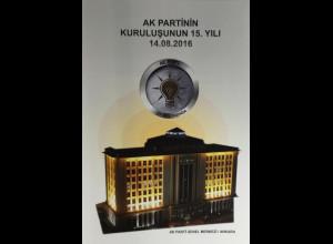 Türkei Turkey 2016 Block 153 Nr. 4291 15 Jahre Partei Gerechtigkeit Ak Parti