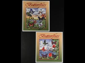 Palau Inseln 2001 Michel Nr. 1905-16 Klbg. einheimische Schmetterlinge