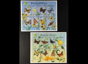 Ghana 1999 Michel Nr. 2949-64 Klbg Schmetterlinge aus aller Welt