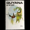 Briefmarkensatz Vögel Schwarzkehl- und Grüner Arassari Schwefelgelbbrusttukan