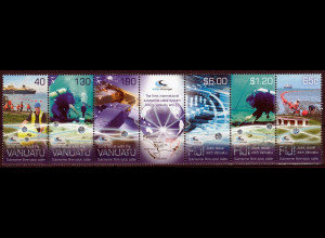 Fidschi Inseln FIJI 2014 Neuausgabe, Parallelausgabe mit Vanuatu, Zusammendruck
