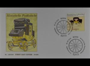 Bund BRD Ersttagsbrief FDC Michel Nr. 2806, Historische Postkutsche, 1.7.2010