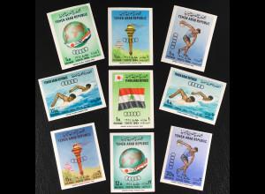Jemen Nordjemen Michel Nr. 359-67 B Olympische Sommerspiele Tokio