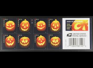 USA Amerika 2016 Michel Nr. 5331-34 Kürbislaternen Jack-O-Lanterns Halloween