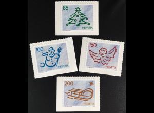 Schweiz 2016 Michel Nr. 2471-74 Weihnachten Zeichnungen im Schnee Schneemann
