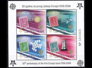 Montenegro 2006, Block 2 A **, 50 Jahre Europamarken