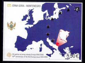 Montenegro 2006, Block 3 **, 50 Jahre Europamarken