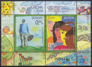 Montenegro 2006, Block 5 **, Europa: Integration