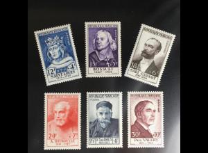 Frankreich France 1954 Michel Nr. 1015-20