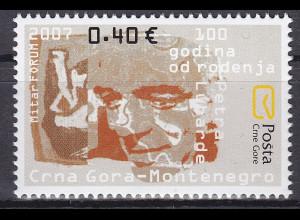 Montenegro 2007 Michel Nr. 148 100. Geburtstag von Petar Lubarda