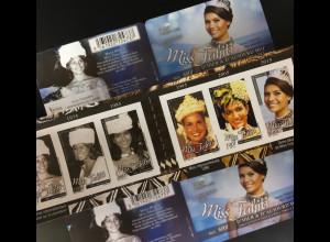 Polynesien französisch 2016 Nr. 1314-19 Miss Tahiti Misswahlen