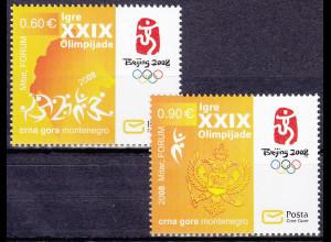 Montenegro 2008, Michel Nr. 164-65 **, Olympische Sommerspiele, Peking