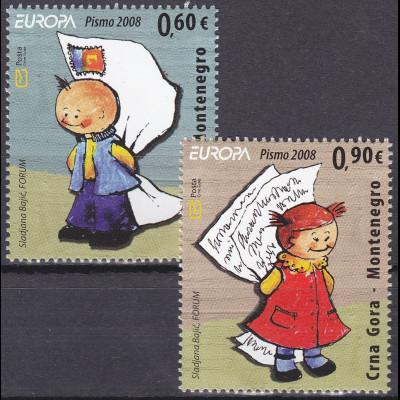 Montenegro 2008, Michel Nr. 166-67 **, Europa: Der Brief