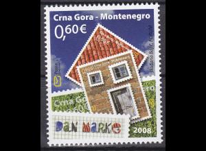 Montenegro 2008, Michel Nr. 181 **, Tag der Briefmarke