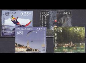 Montenegro 2009, Michel Nr. 210-13 **, Tourismus: Trendsportarten