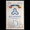 Estland EESTI 2016 Nr. 874 25 Jahre Baltische Versammlung Paralellausgabe