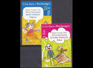 """Montenegro 2009, Michel Nr. 220-21, Europäisches Kindertreffen """"Freude Europas"""""""