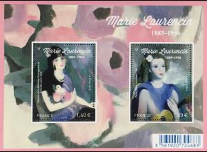 Frankreich France 2016 Block 353 60. Todestag von Marie Laurencin Gemälde Kunst
