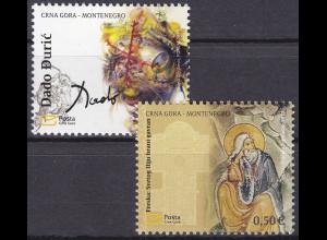 Montenegro 2010, Michel Nr. 224-25 **, Kunst durch die Jahrhunderte (III)