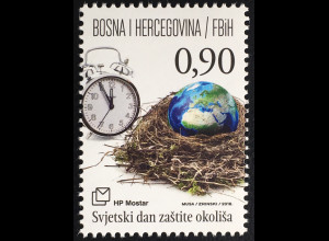 Bosnien Herzegowina Kroatische Post Mostar 2016 Nr 434 Weltumwelttag Naturschutz