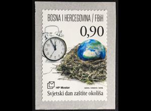 Bosnien Herzegowina Kroatische Post Mostar 2016 Nr.434 Weltumwelttag aus Rolle