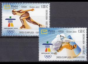 Montenegro 2010 Michel Nr. 226-27 Olympische Winterspiele Vancouver