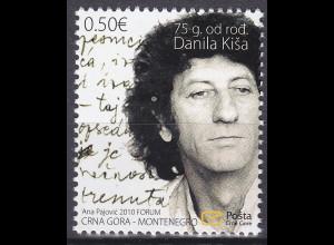 Montenegro 2010, Michel Nr. 228 **, 75. Geburtstag von Danilo Kiš