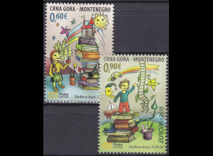 Montenegro 2010, Michel Nr. 233-34 **, Europa: Kinderbücher