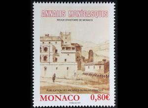 Monako Monaco 2016 Nr. 3318 Historische Jahresschrift Annales Monégasques