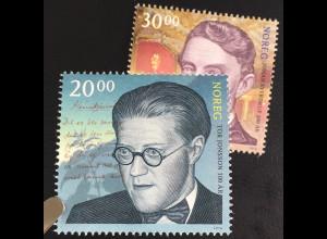 Norwegen 2016 Nr. 1923-24 Persönlichkeiten Geburtstag Jonsson und Johan Sverdrup