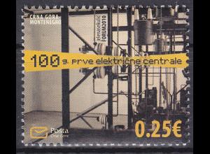 Montenegro 2010, Michel Nr. 245 **, 100 Jahre Elektrizitätswerke