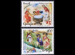 Serbien Serbia 2016 Nr. 693-94 Weihnachten Maria Josef Christuskind Gemälde