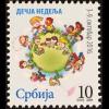 Serbien Serbia 2016 Nr. 80 Kinderwoche Zwangszuschlagsmarke Globus Kindern
