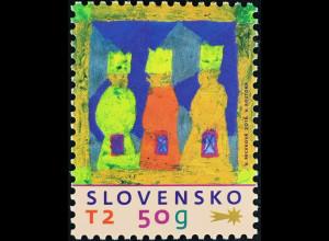 Slowakei Slovakia 2016 Nr. 803 Weihnachten Heilige drei Könige gezeichnet