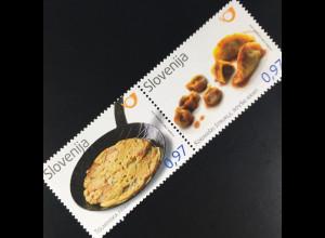 Slowenien Slovenia 2016 Michel Nr. 1231-32 Gastronomie Tolminer Frika Soča-Tal