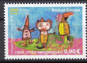 """Montenegro 2010, Michel Nr. 249 **, Europäisches Kindertreffen """"Freude Europas"""""""