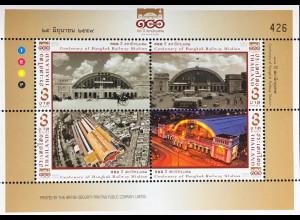 Thailand 2016 Neuheit 100 Jahre Bahnhof Hua Lamphong Bangkok Bahnverkehr Zug