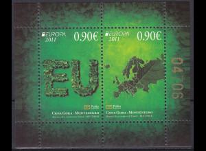 Montenegro 2011, Block 10 **, Europa: Der Wald