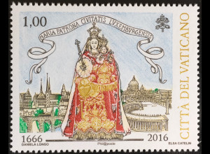 Vatikan Cittá del Vaticano 2016 Nr.1882 Maria Schirmherrin der Stadt Luxemburg