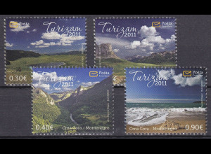 Montenegro 2011, Michel Nr. 268-71 **, Tourismus