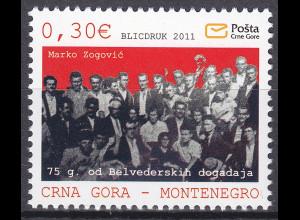 Montenegro 2011 Michel Nr. 278 75. Jahrestag der blutigen Auflösung