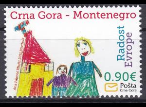 """Montenegro 2011, Michel Nr. 281 **, Europäisches Kindertreffen """"Freude Europas"""""""