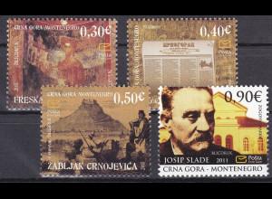 Montenegro 2011, Michel Nr. 282-85 **, Historisches Erbe (I)