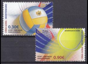 Montenegro 2011, Nr. 276-77**, 1. Teilnahme Montenegros an den Sportspielen