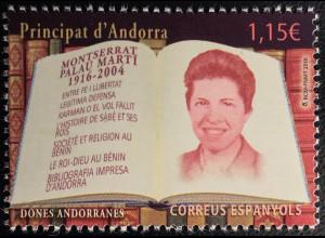 Andorra spanisch 2016 Nr. 446 Montserrat Paula Marti Berühmte Person