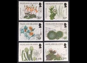 Falkland Inseln 2016 Nr. 1312-23 Endemische Pflanzen Flora False Plantain