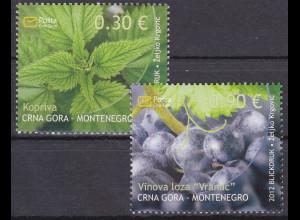 Montenegro 2012, Michel Nr. 293-94 **, Flora